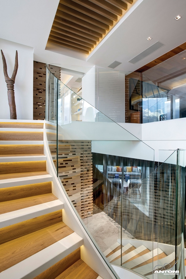 Picture of modern spiral staircase
