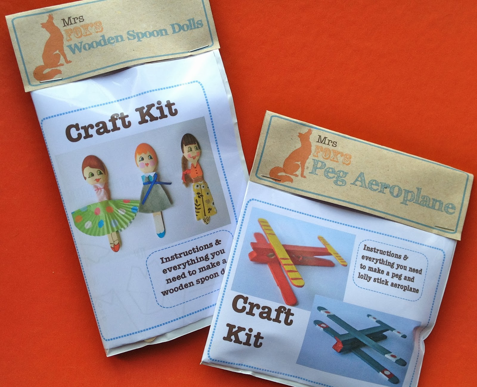 kid's craft kits by Mrs Fox's