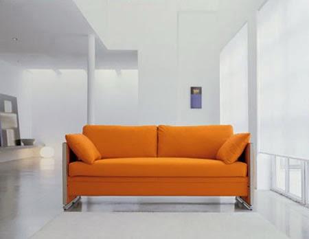 orange modern couch model