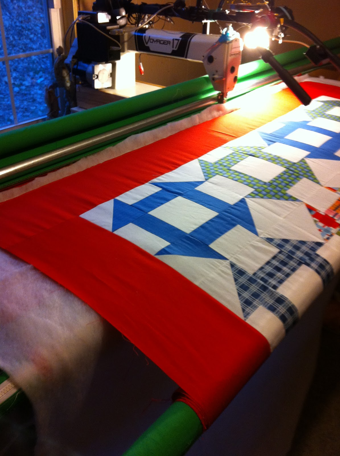 Stitches n Stories Quilting: Pantographs From The Front of Your Machine