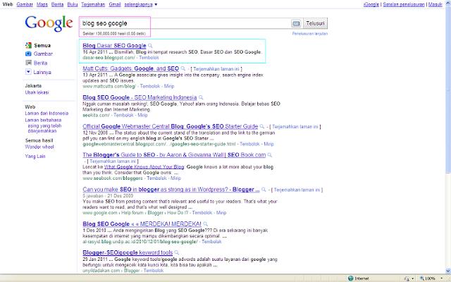 Ranking Nomor 1 di Google