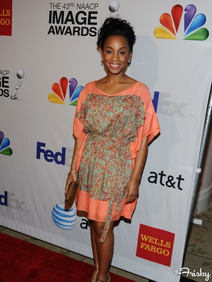 Anika noni Rose, Black Actress, Red Carpet, Casual wear, Black People, Tyler Perry, 2012, NAACP