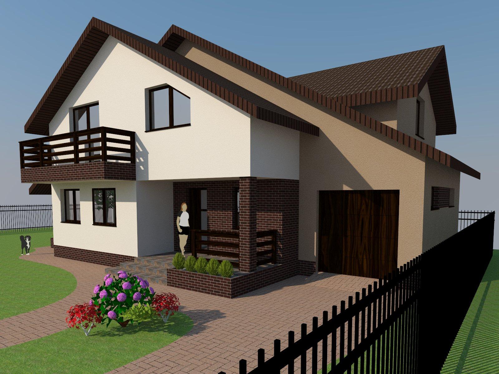 Propunere fatada casa bacau teodora nicodim for Design exterior fatade case
