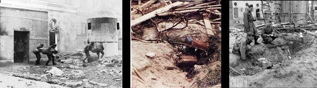 Фюрербу́нкер (нім. Führerbunker) — бункер фюрера; загальна назва комплексу підземних приміщень в Берліні, що розташовувалися під рейхсканцелярією. Побудований двома етапами — 1936 та 1943 року. Бункер служив останнім прихистком Адольфу Гітлеру впродовж останніх тижнів його життя.[~ 1] Бункер був штаб-квартирою фюрера; у ньому Адольф Гітлер, його дружина Єва Браун та декілька нацистських високопосадовців вчинили самогубство.  Зміст      1 Історія бункера     2 Конструкція бункера     3 Після війни     4 Галерея     5 Див. також     6 Коментарі     7 Примітки     8 Література  Історія бункера  Фюрербункер був запланований ще 1935 року як звичайне бомбосховище. Тоді він повинен був складатися із 12 невеличких кімнат і не призначався персонально для фюрера. Бункер під рейхсканцелярією будувався у рамках загальнонаціональної кампанії з побудови засобів захисту від повітряних атак ворога.[1] Для самого Гітлера було побудовано декілька ставок на території Третього Рейху та поза ним — фюрер не розраховував під час майбутньої війни залишатися у Берліні.[1] Але з часом плани дещо змінилися, і в липні 1940 року після захоплення Франції Гітлер повернувся до Німеччини, втім фюрербункер тоді майже не використовувався. Кардинальна зміна відбулася на початку 1945 року. Тоді бункер почав використовуватися як штаб-квартира фюрера, де той міг відпочивати й керувати бойовими діями, не боячись нальотів авіації Антигітлерівської коаліції. Останні дні (20—30 квітня 1945 року) Адольф Гітлер провів саме у фюрербункері. Тут він покінчив із собою. Після того, як у бункері знайшли свій останній прихисток фюрер із деякими прибічниками, укріплення вже не використовувалося. Одразу після капітуляції Німеччини будівлю рейхсканцелярії було знесено, а входи у фюрербункер засипано землею Конструкція бункера Руїни фюрербункера (підірваний 1947 року)  Загальна площа бункера становила приблизно 250 м².[2]. Вартість будівництва об'єкта — 1,4 млн рейхсмарок. З точки зору фортифікації, він був укриттям висо