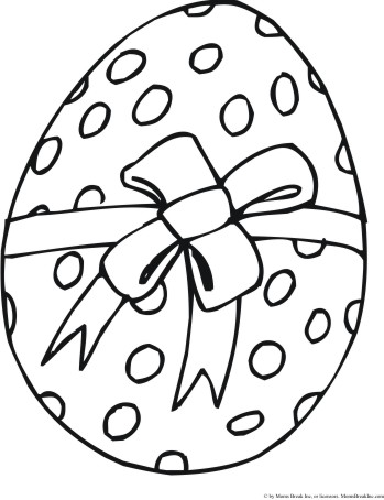 Easter Coloring Pages On Six Eggs For You