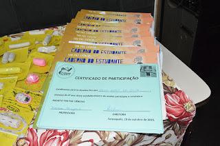 'TIM Faz Ciência' - Encerramento Anual Teresópolis RJ- Alunos receberam certificado de participação no projeto