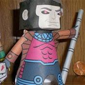 Gambit Paper Toy Papercraft