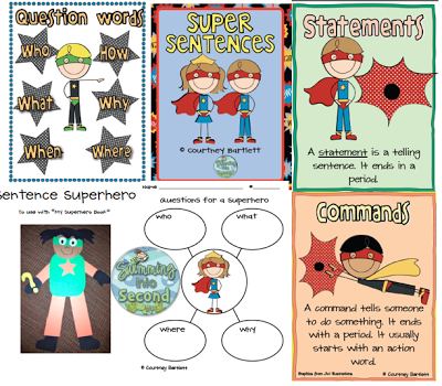 http://www.teacherspayteachers.com/Product/Superhero-Sentences-273846