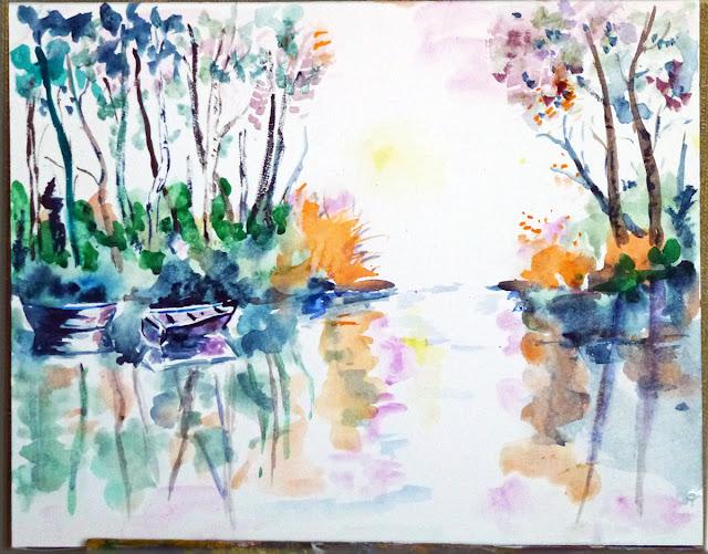art de vivre la peinture de peintrefiguratif : aquarelle ...