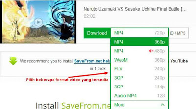 Cara download video di youtube tanpa software