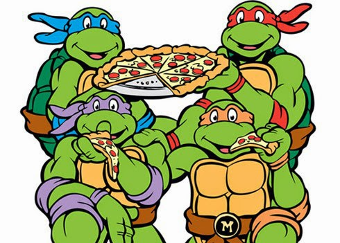 Gambar Makan Pizza Kura Kura Ninja Kartun Lucu Teenage Mutant Ninja Turtles