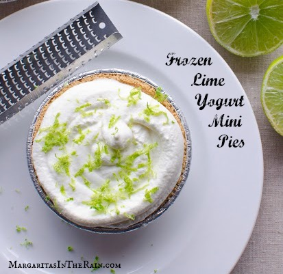 Frozen Lime Yogurt Mini Pies