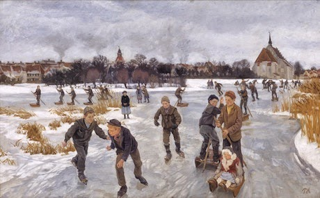 Art Talk - foredrag om kunst. Peter Hansen: På isen bag byen. Faaborg. 1901