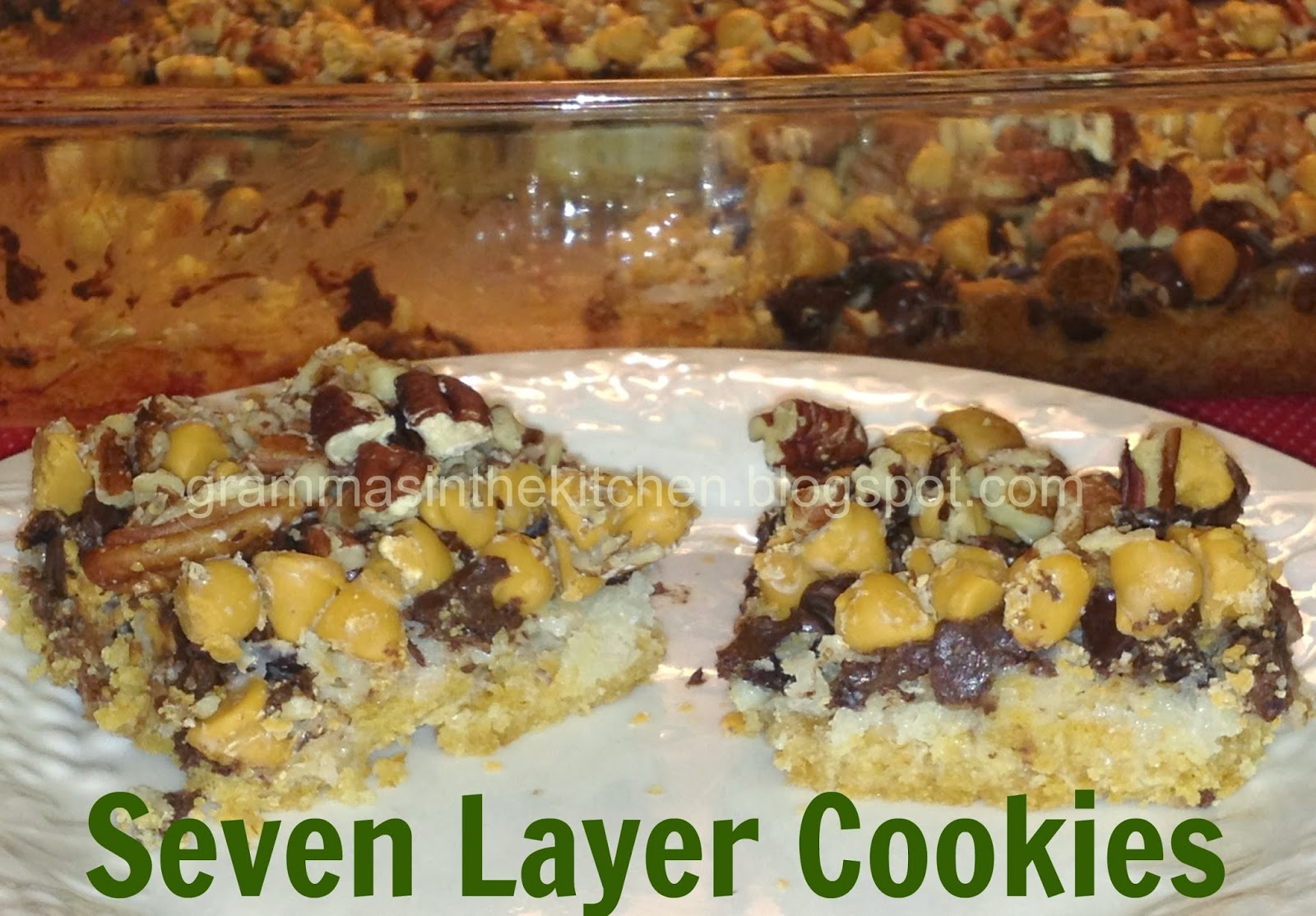 Gramma's in the kitchen: Seven Layer Cookies