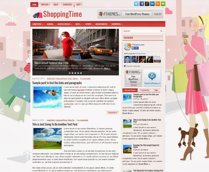 ShoppingTime - Free WordPress Theme