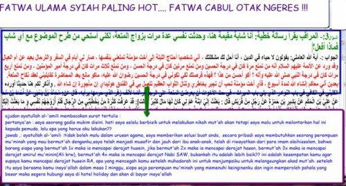 Fatawa Nikah Mut'ah  Menurut Ulama Syi'ah (Mengerikan)