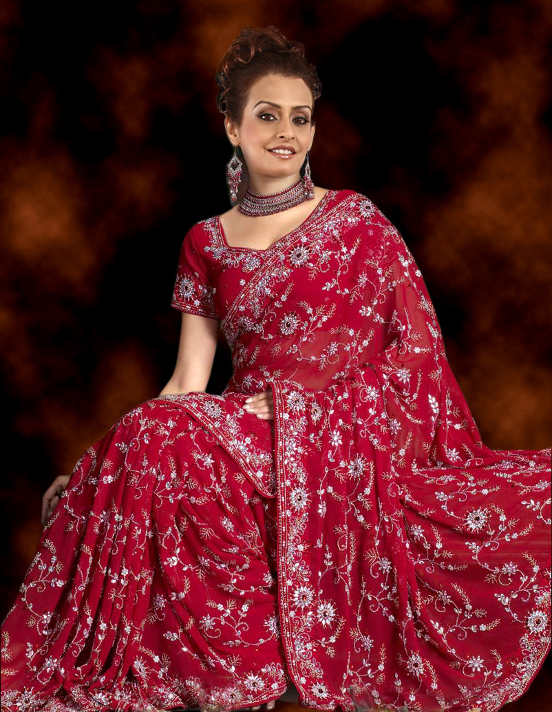 Beautiful indian bridal dresses ladies mails for Www indian wedding dress