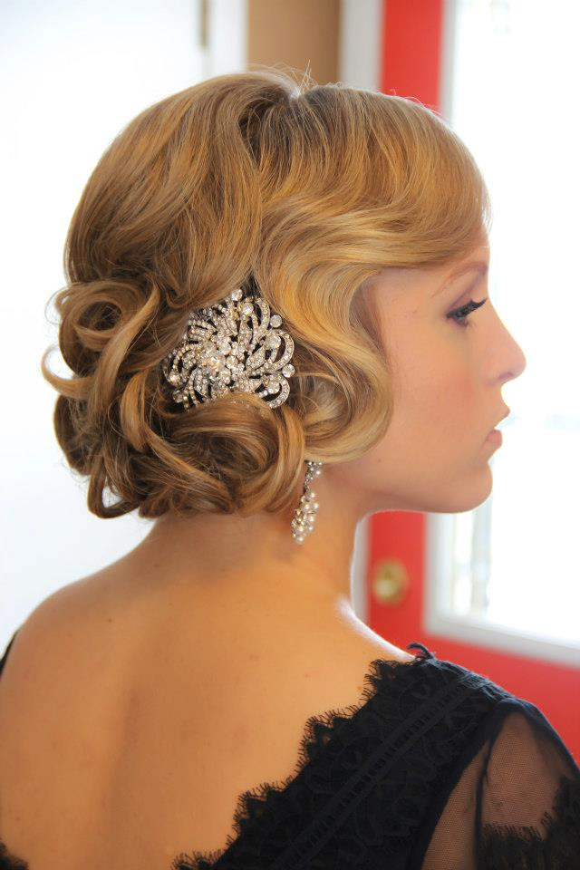 Obsession great gatsby style onsite muse wedding hair for Miroir coiffure st augustin