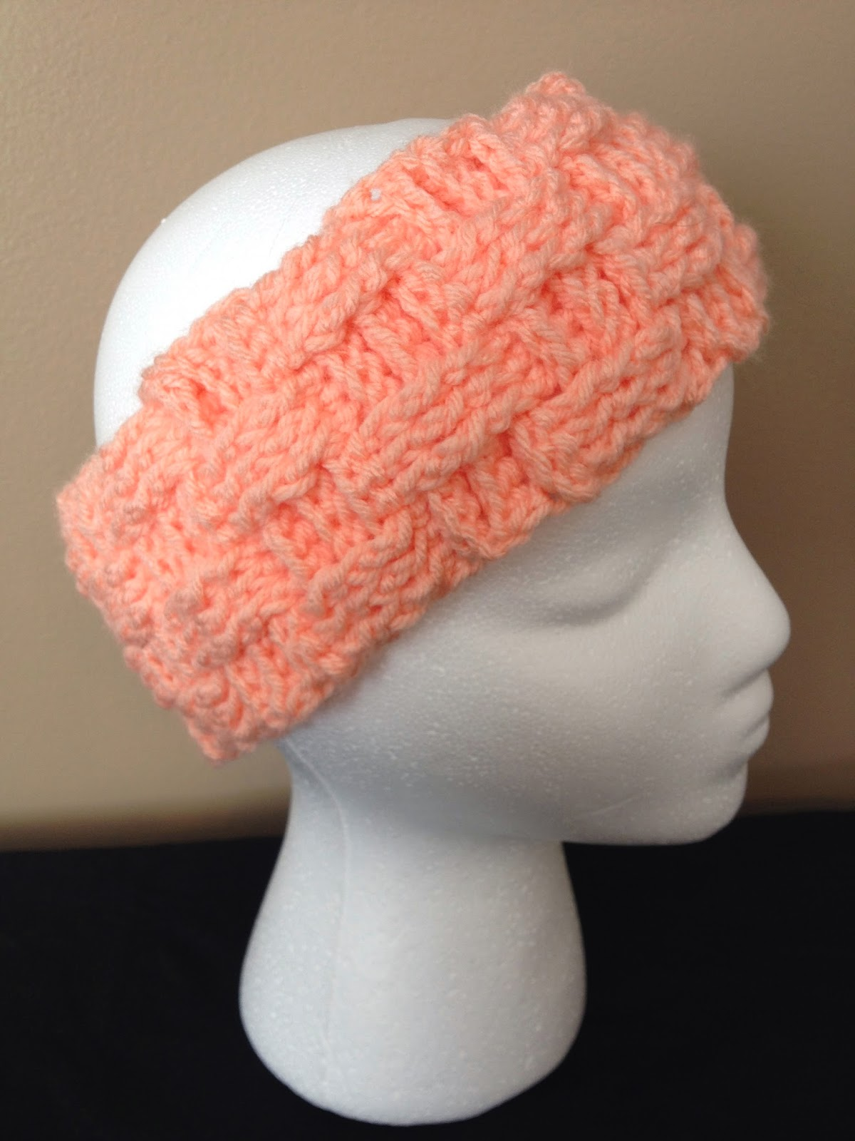 My Crocheted World: Basket Weave Ear Warmer Free Pattern!