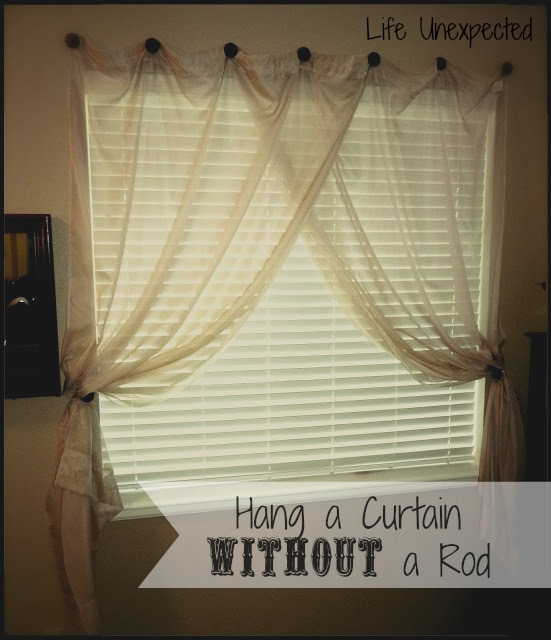 Ideas For Hanging Curtains Without Rods No Drill Curtain Rods