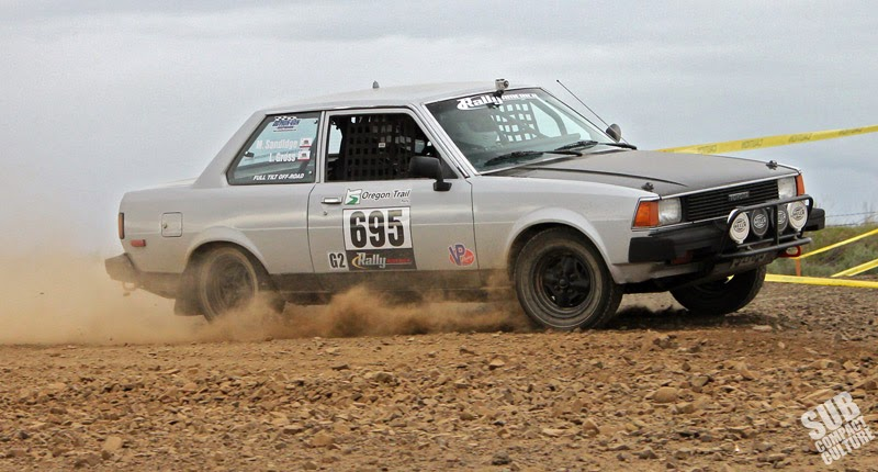 Toyota Corolla coupe at Oregon Trail Rally