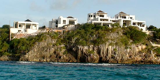 The luxury villas overlook Anguilla's beautiful Shoal Bay beach