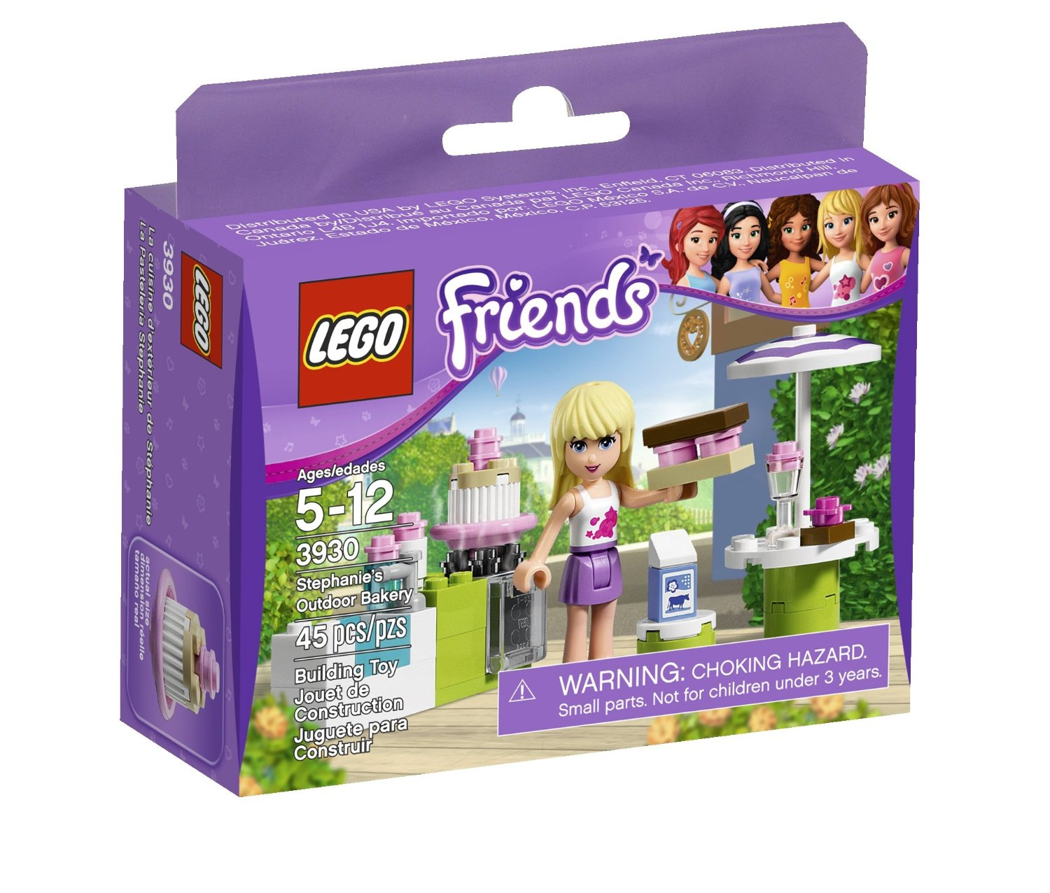 my lego style lego friends stephanie 39 s outdoor bakery 3930. Black Bedroom Furniture Sets. Home Design Ideas