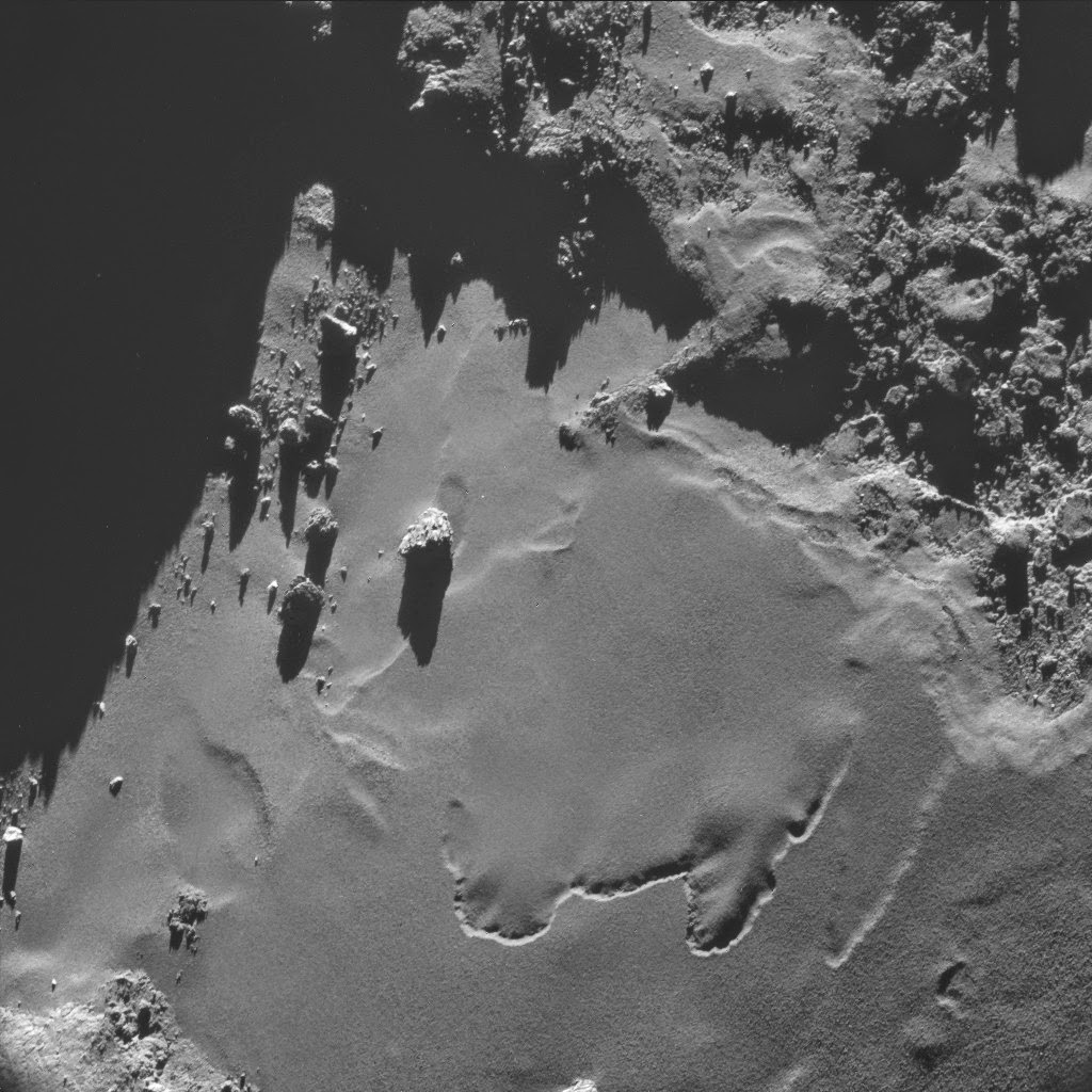 How the surface of a comet looks like