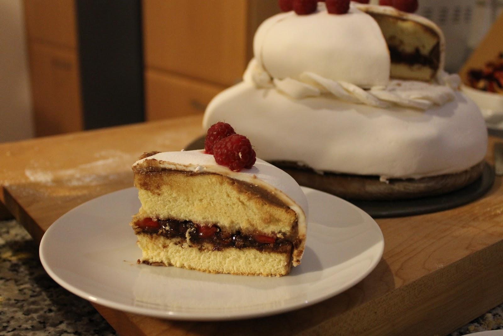 Torte mit nutella fullung