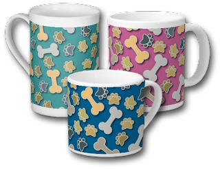 Paws and Bones Mugs