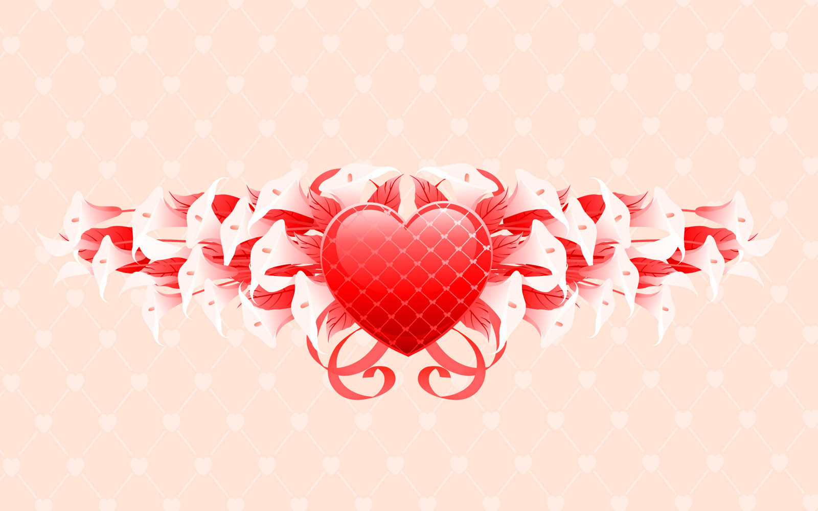 Love Wallpapers Set : wallpapers: Vector Love Wallpapers