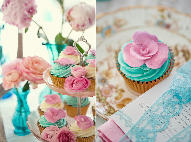 Decoração casamento rosa e azul
