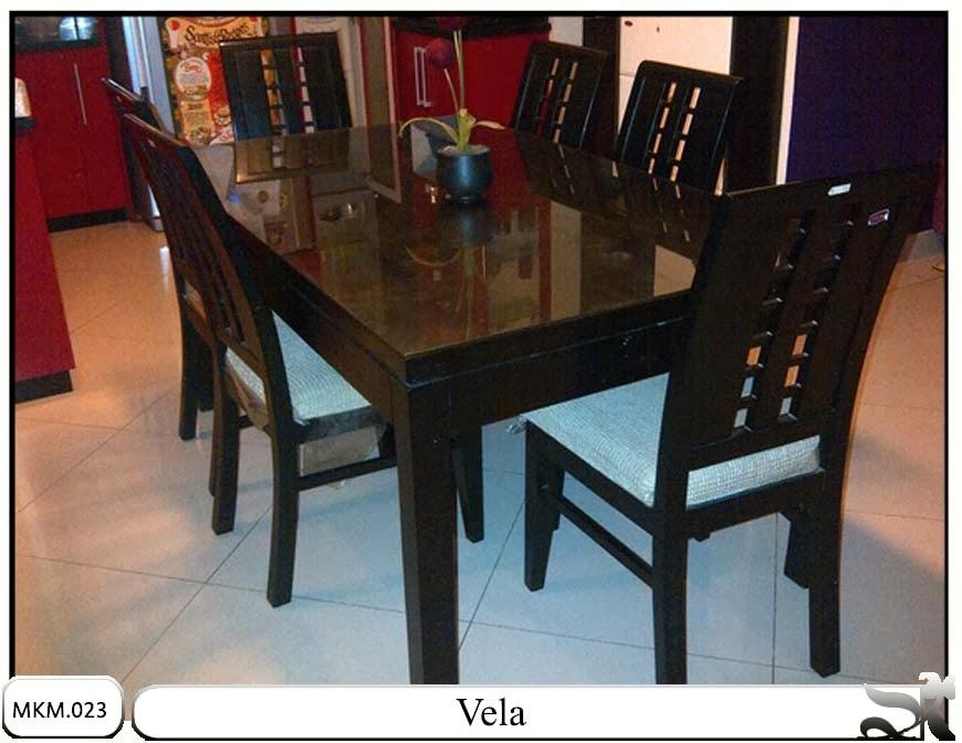 Set meja makan model minimalis Vela
