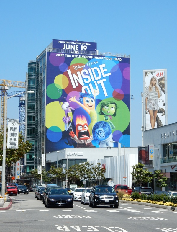 Giant Inside Out movie billboard
