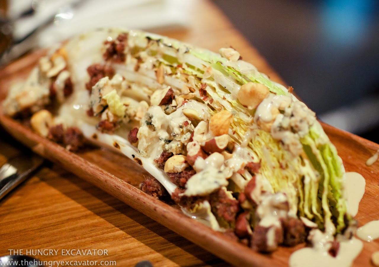 Grilled Cabbage, blue cheese, anchovies, hazelnut vinegar - $9