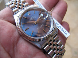 SOLD ROLEX OYSTER PERPETUAL DATEJUST BLUE DIAL - ROLEX 16234