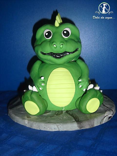 torta dinosauro in 3d