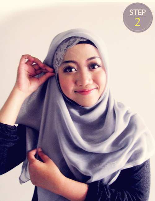 Tutorial Jilbab Segi Empat Simpel dan Cantik