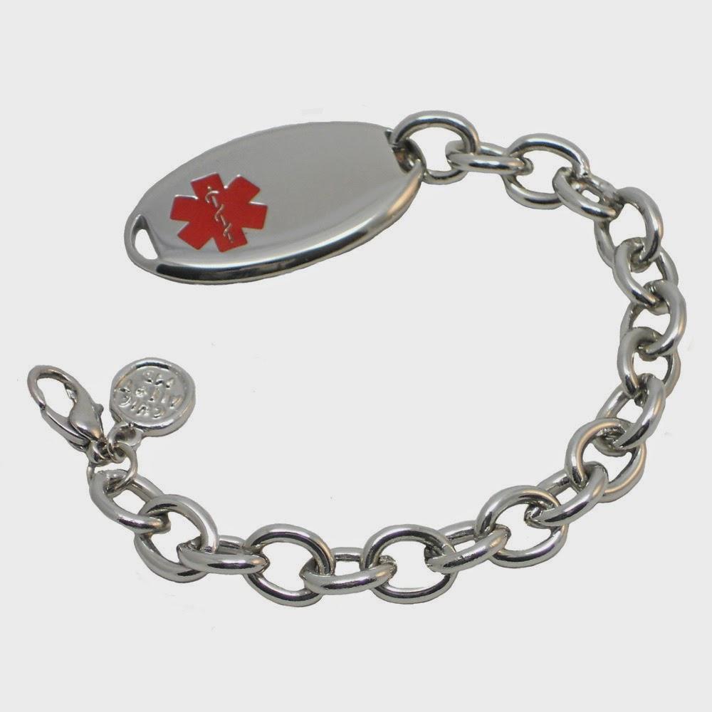 Stainless Steel Simple Strand ID Bracelet