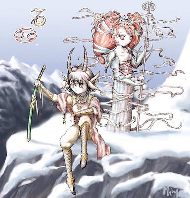 Capricornio y Cancer Anime