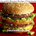 Mcdonald's Burger Recipe { Vegetarian }