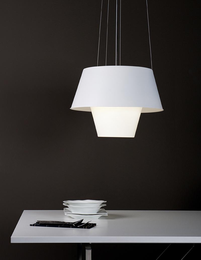 Interiores minimalistas tanuki l mpara de suspensi n con - Luz indirecta ...