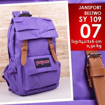 jual online tas jansport kanvas murah warna ungu