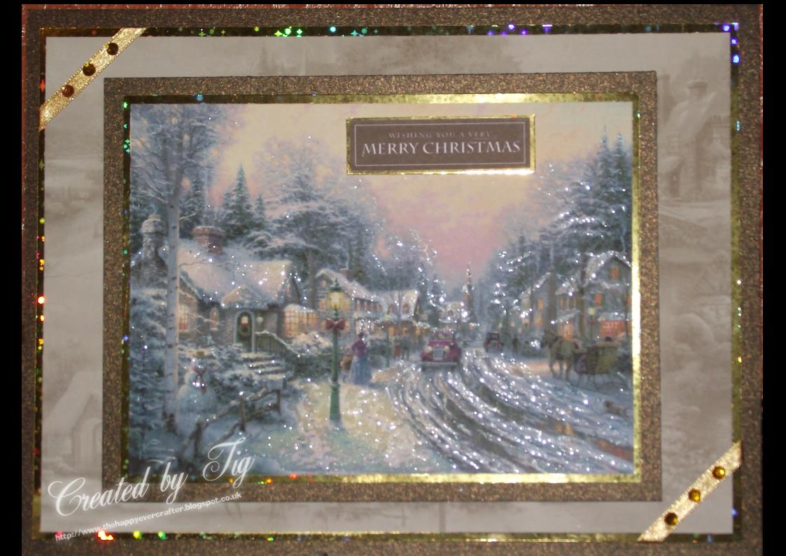 Tigs Cards THOMAS KINKADE CHRISTMAS CARD