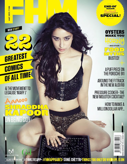 Shraddha Kapoor hot on fhm cover