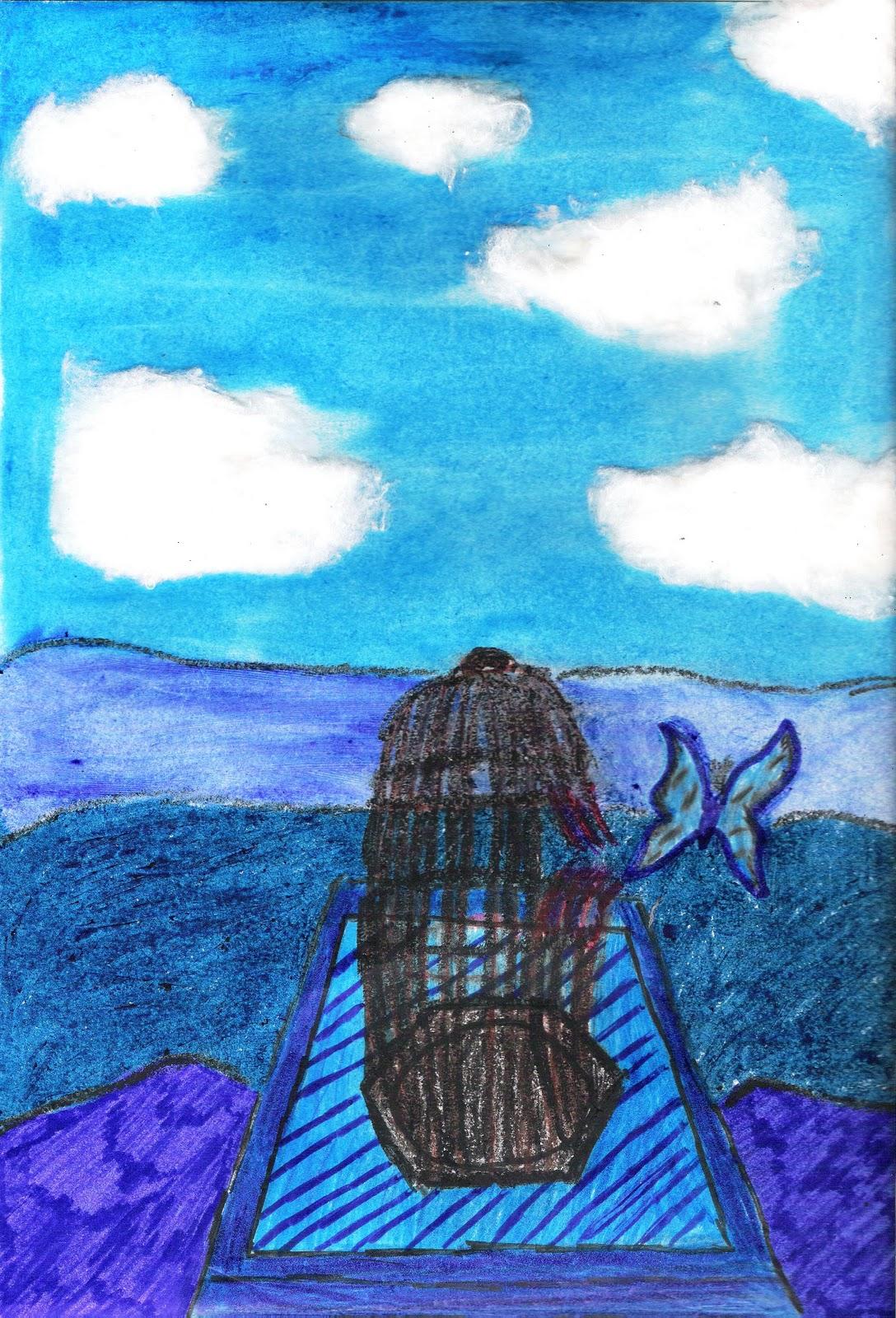 Epv colegio san jos dominicas expresividad del azul for Encerrado en 4 paredes