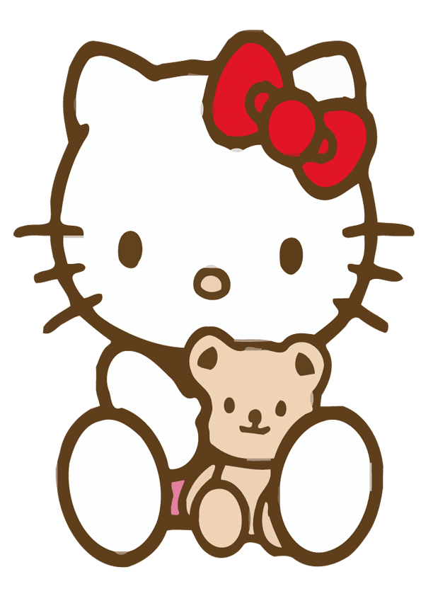hello kitty con osito de peluche