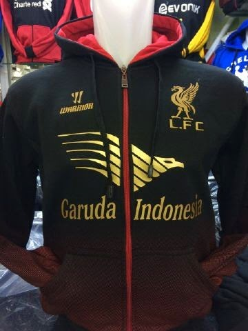 Jual jaket hoodie Liverpool warna hitam terbaru musim 2015/2016