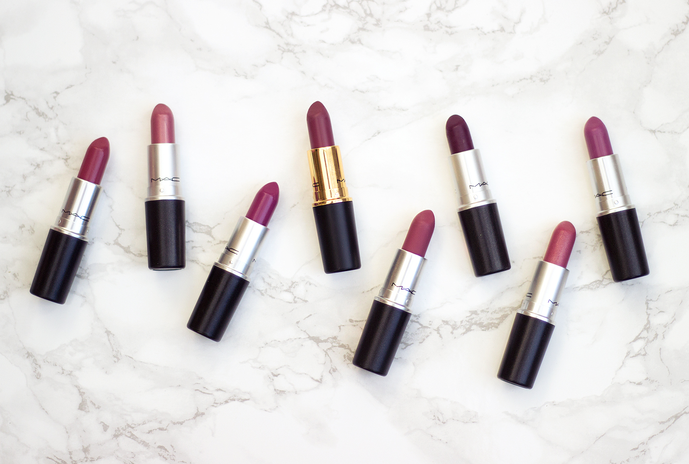 MAC Lipstick Collection: Berry and Purple Lipsticks and Swatches