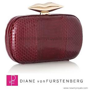 Queen Mathilde Style DIANE VON FURSTENBERG Clutch